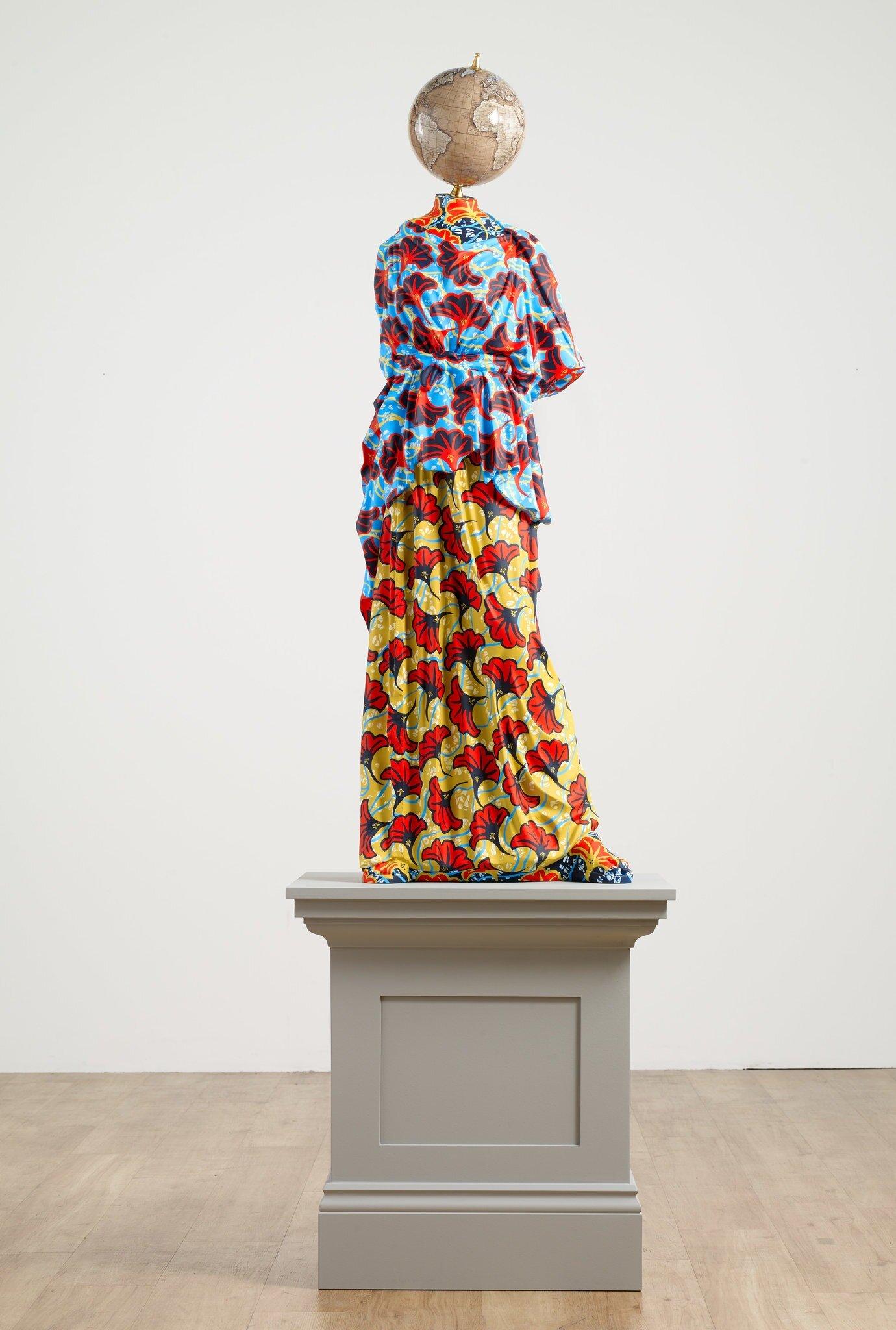 "Yinka Shonibare's sculpture ""Athena II.""CreditGoodman Gallery"