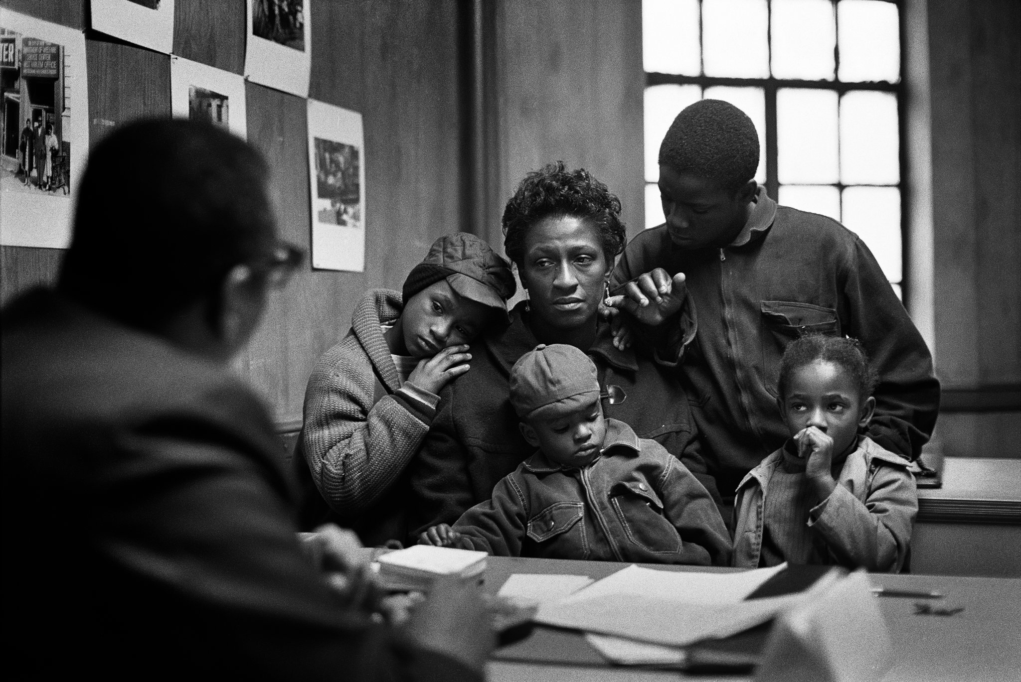 """""""The Fontenelles at the Poverty Board, Harlem, New York, 1967,"""" by Gordon Parks.CreditGordon Parks/The Gordon Parks Foundation and Alison Jacques Gallery"""