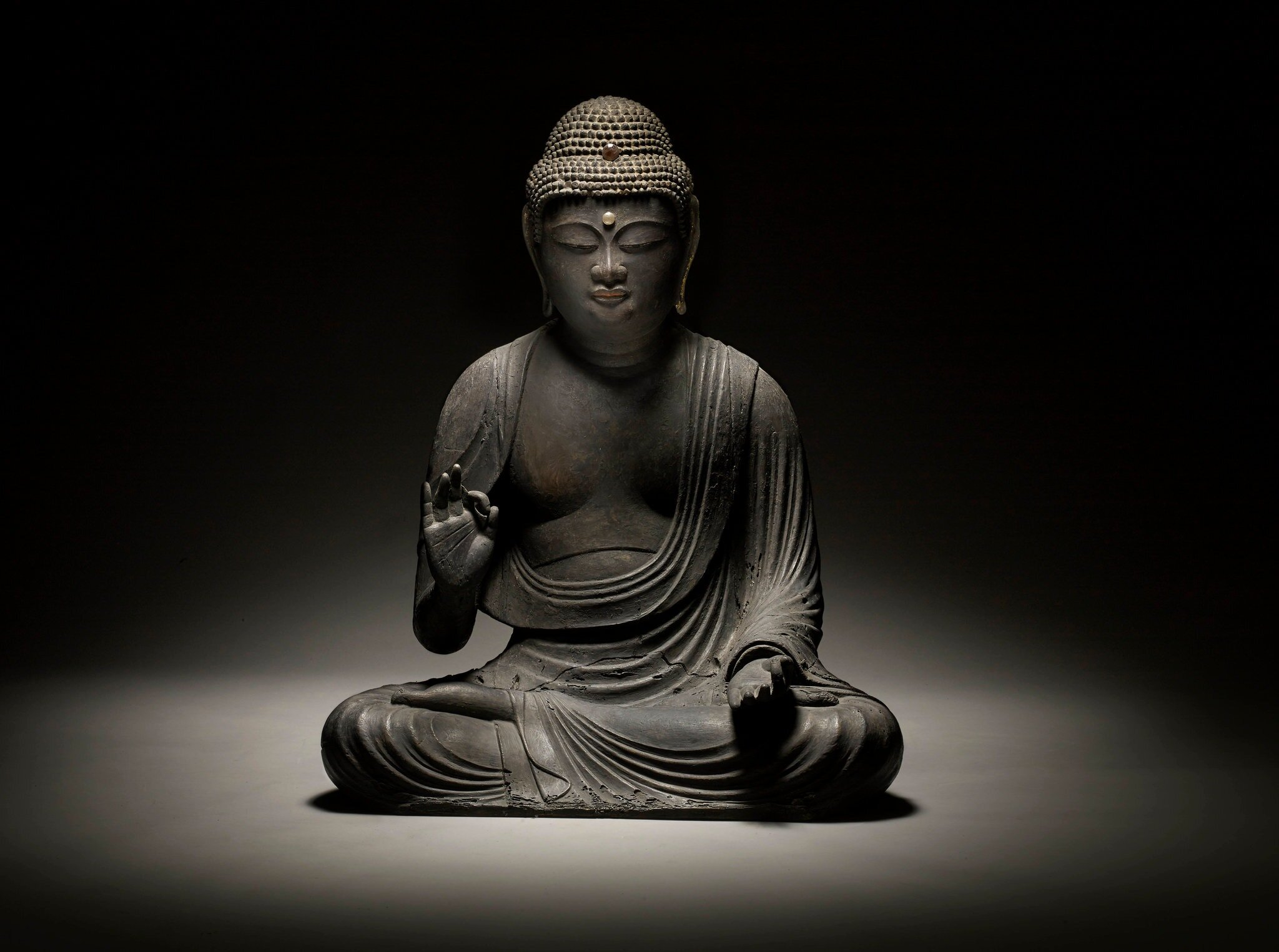 A Japanese Amida Buddha from the Heian period is being shown in Frieze Masters.CreditGregg Baker Fine Art