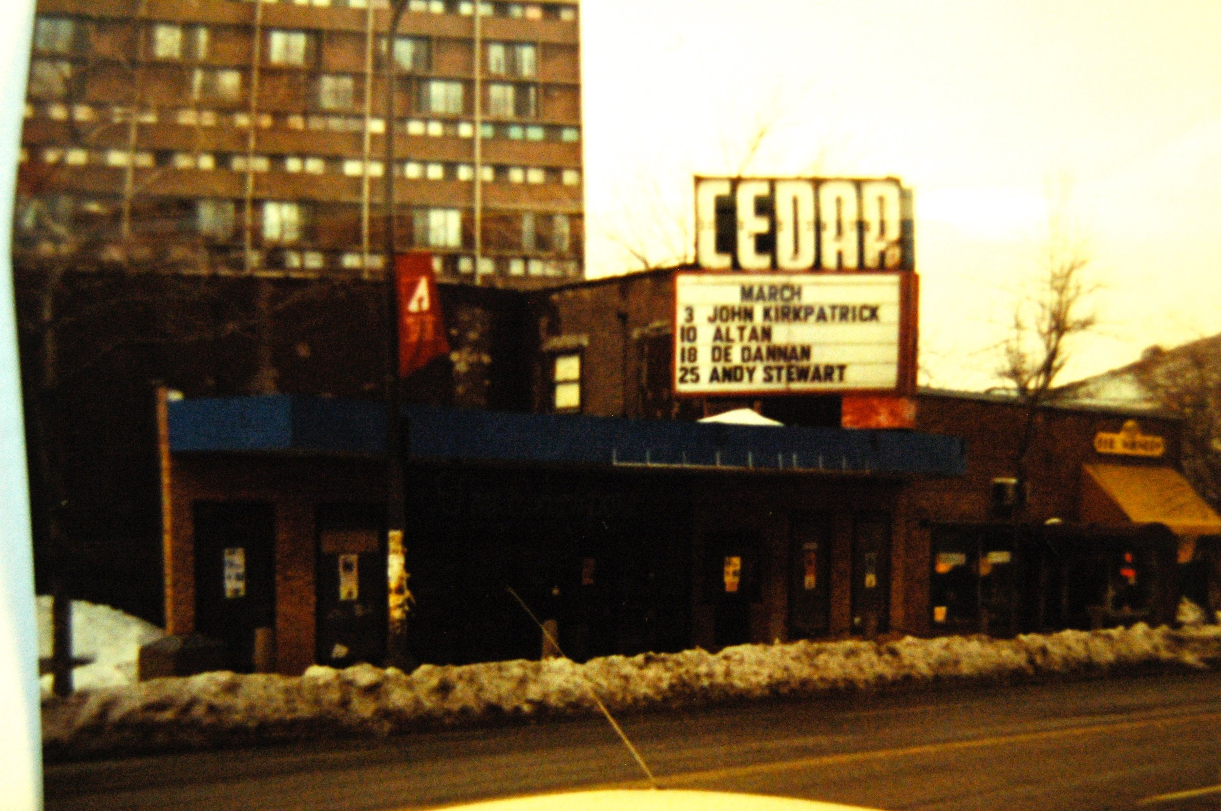 The Cedar around 1989-1990