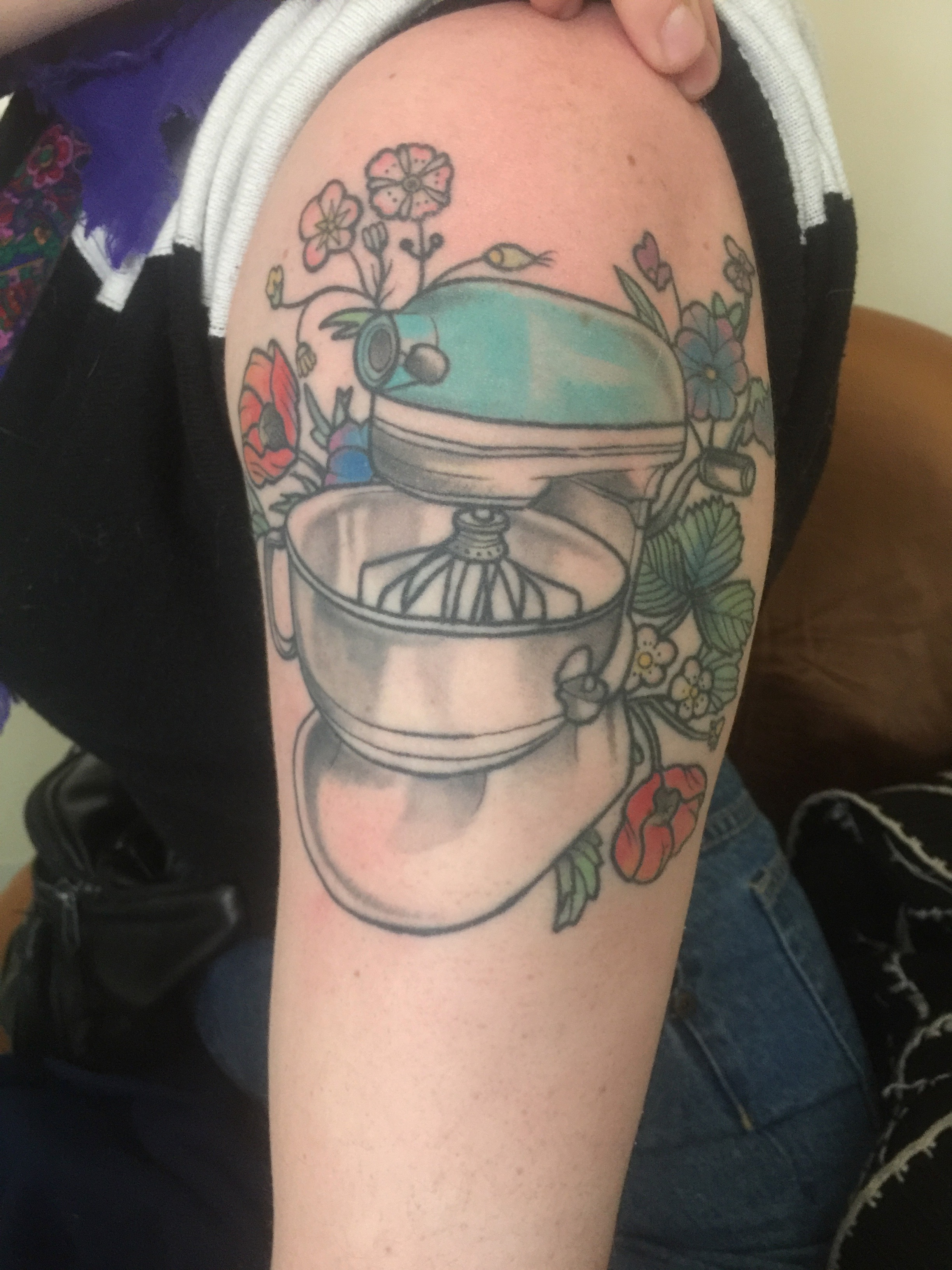 Abby Kastrul's mixer tattoo