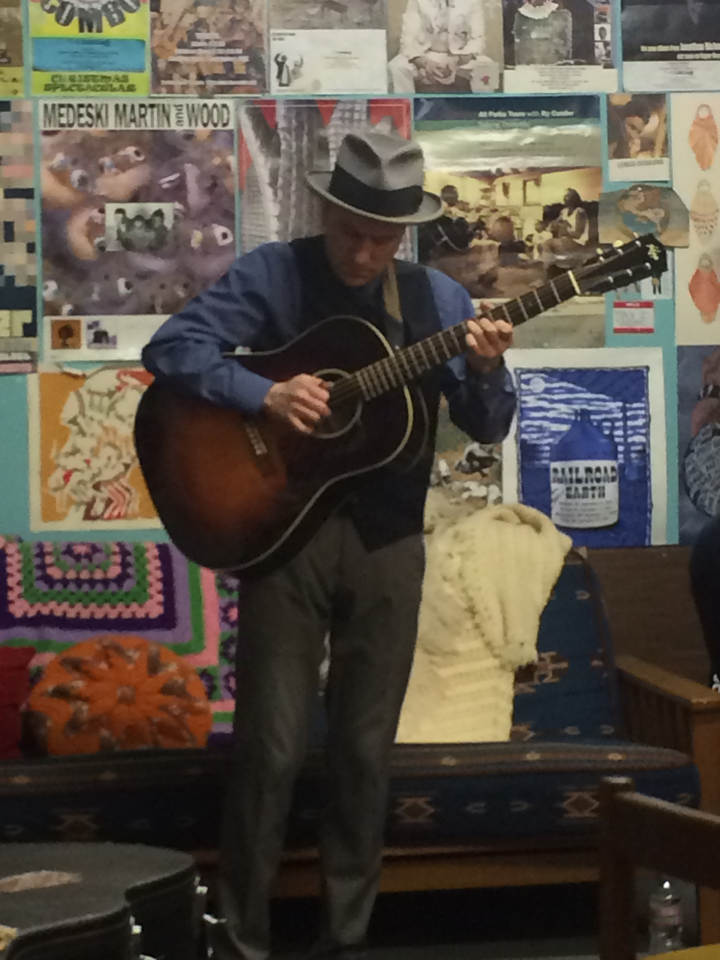 Lonesome Dan Kase in The Cedar's green room