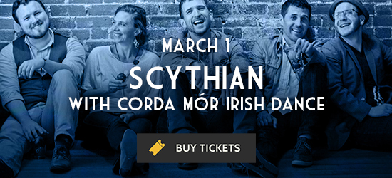 Promotional image for Scythian's March 1 performance at The Cedar