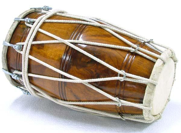 The dhol, a key part of bhangra's Punjabi sound