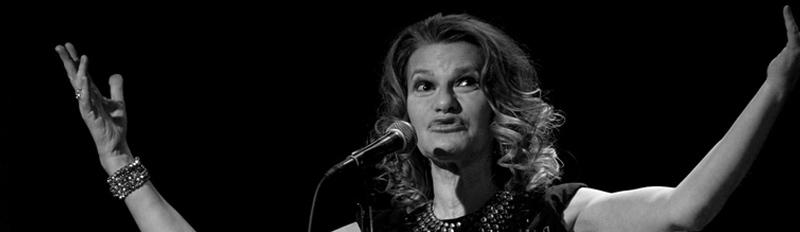 Comedian Sandra Bernhardt performing at The Cedar, November 2017. Photo: Pat O'Loughlin.