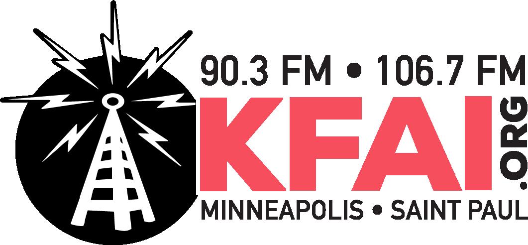 The logo for KFAI Radio.