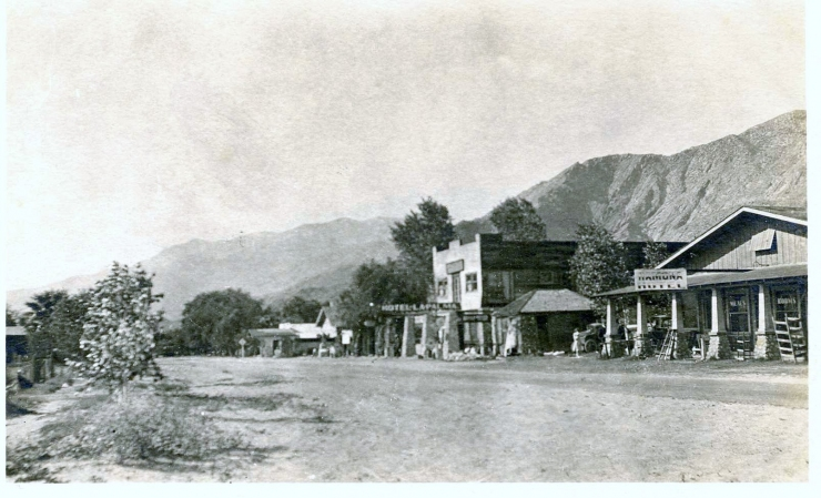 PALM SPRINGS 1921 COURTESY OF THE PALM SPRINGS HISTORICAL SOCIETY
