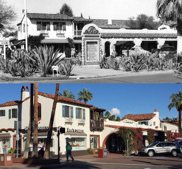 LA PLAZA PALM SPRINGS IN 1933 AND 2017