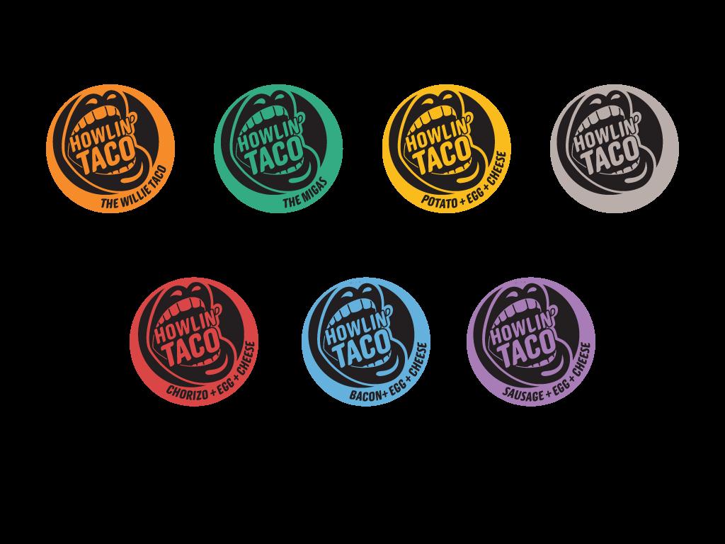 Howlin' wrapper stickers