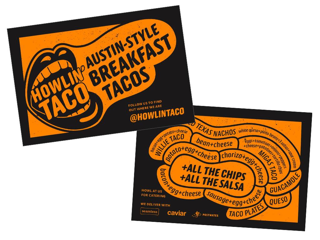 Howlin' promo cards