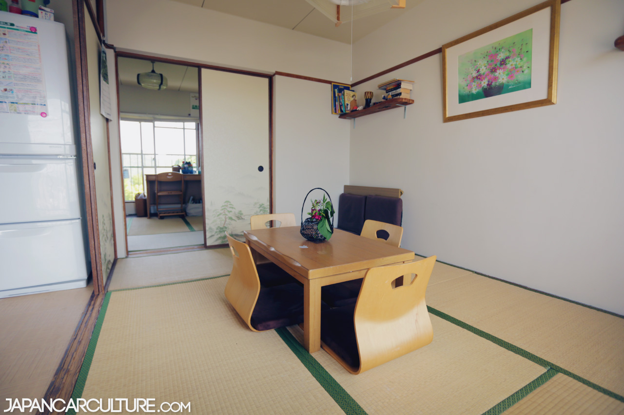 A traditional tatami room with a short-legged table – yes, you sit on the floor!
