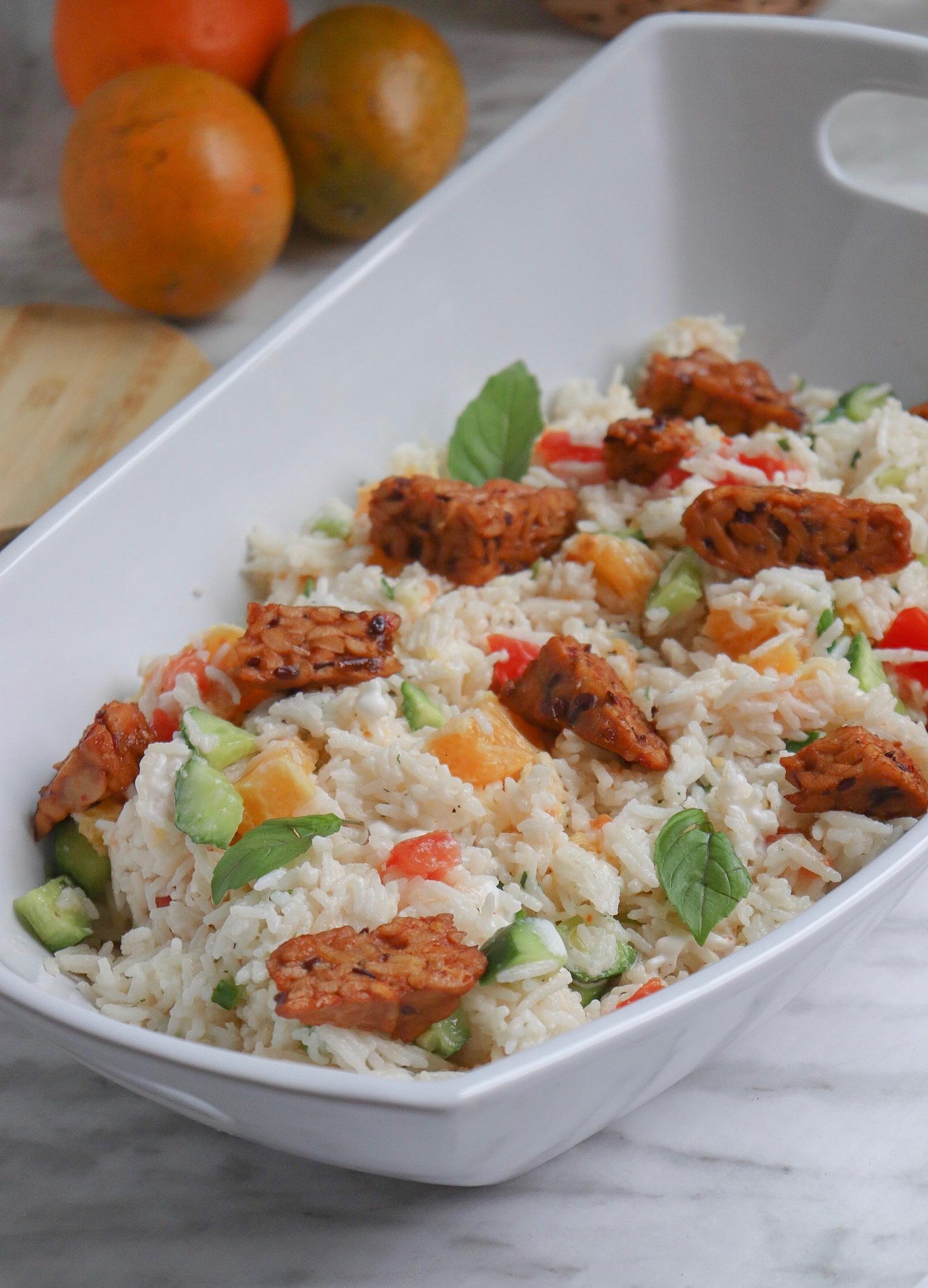 Salade de riz à l'orange