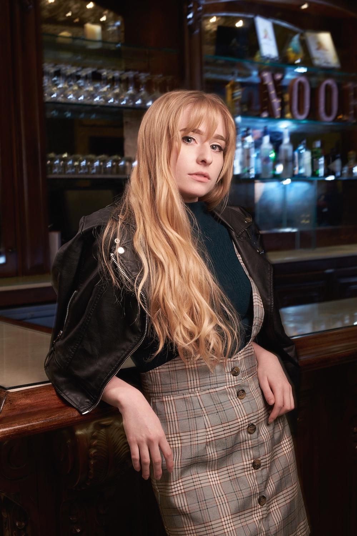 Fresno CA Fashion Photography - Female with black jacket