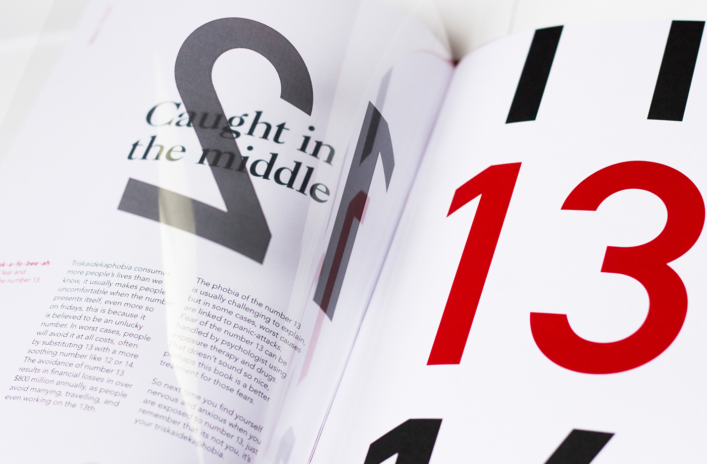 The Number 13 - AWARD WINNINGEDITORIAL DESIGN