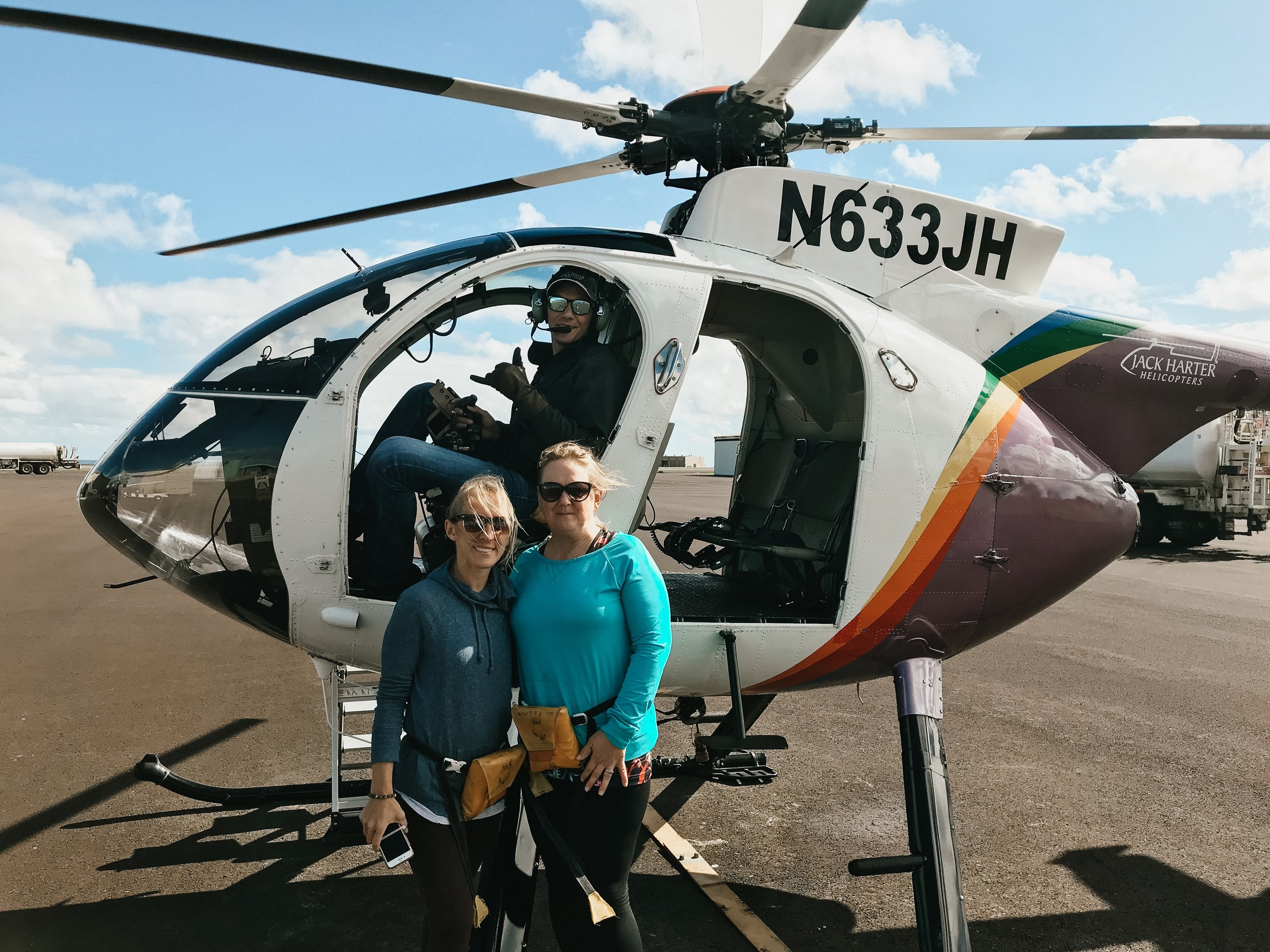 Ah, the crown jewel of the trip. After our morning at the market, we floated through the clouds with Jack Harter Helicopters. We even felt the breeze through our hair - since the helicopter had no doors!