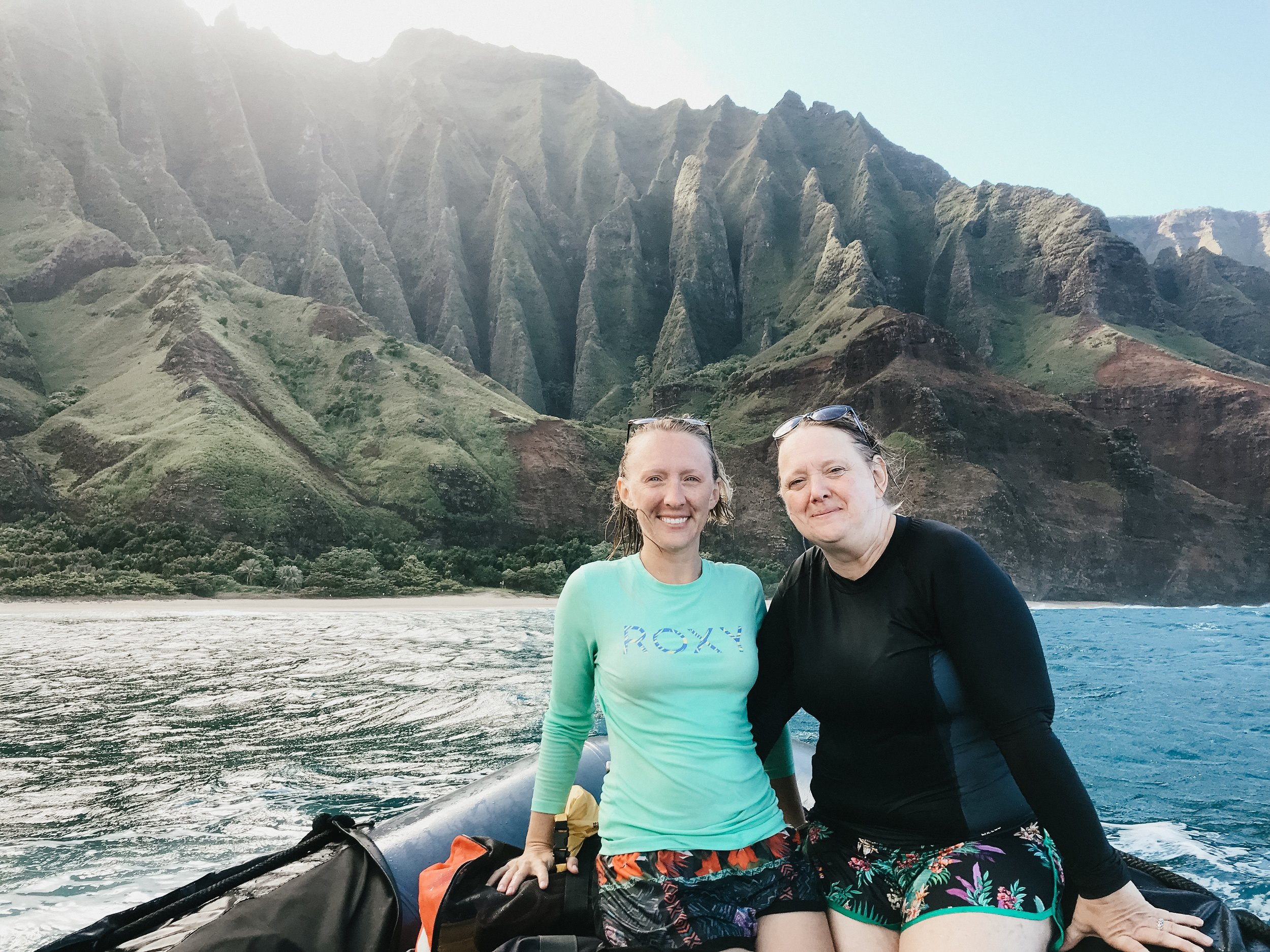 Seeing the Na Pali from the water makes you realize just how small you are.