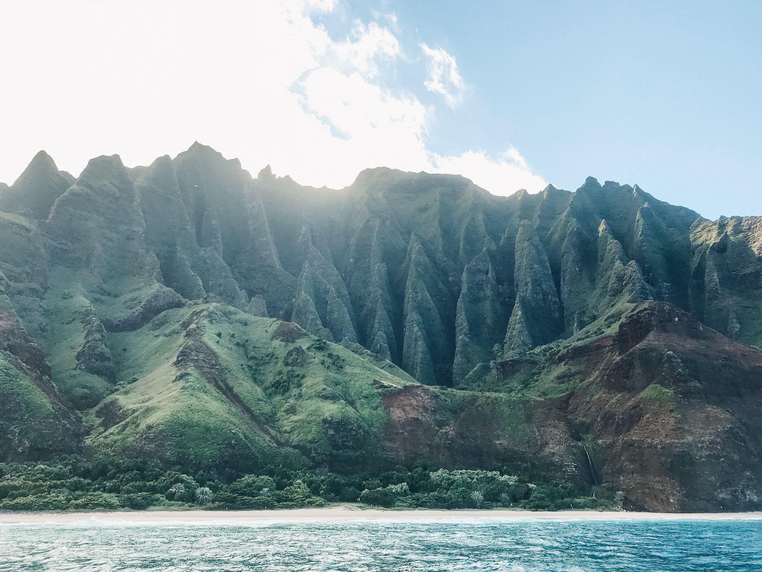 """Truly one of the most stunning landscapes in Hawaii. This section of the coast is known as the """"Cathedrals."""""""