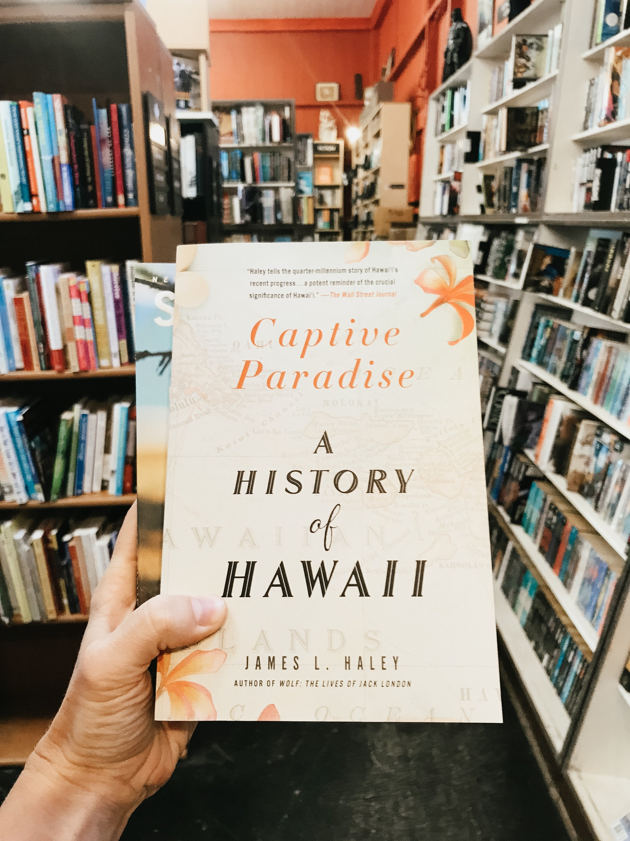 I stocked up on some books about Hawaii at the westernmost bookstore in the U.S. - Talk Story Bookstore in Hanapepe.