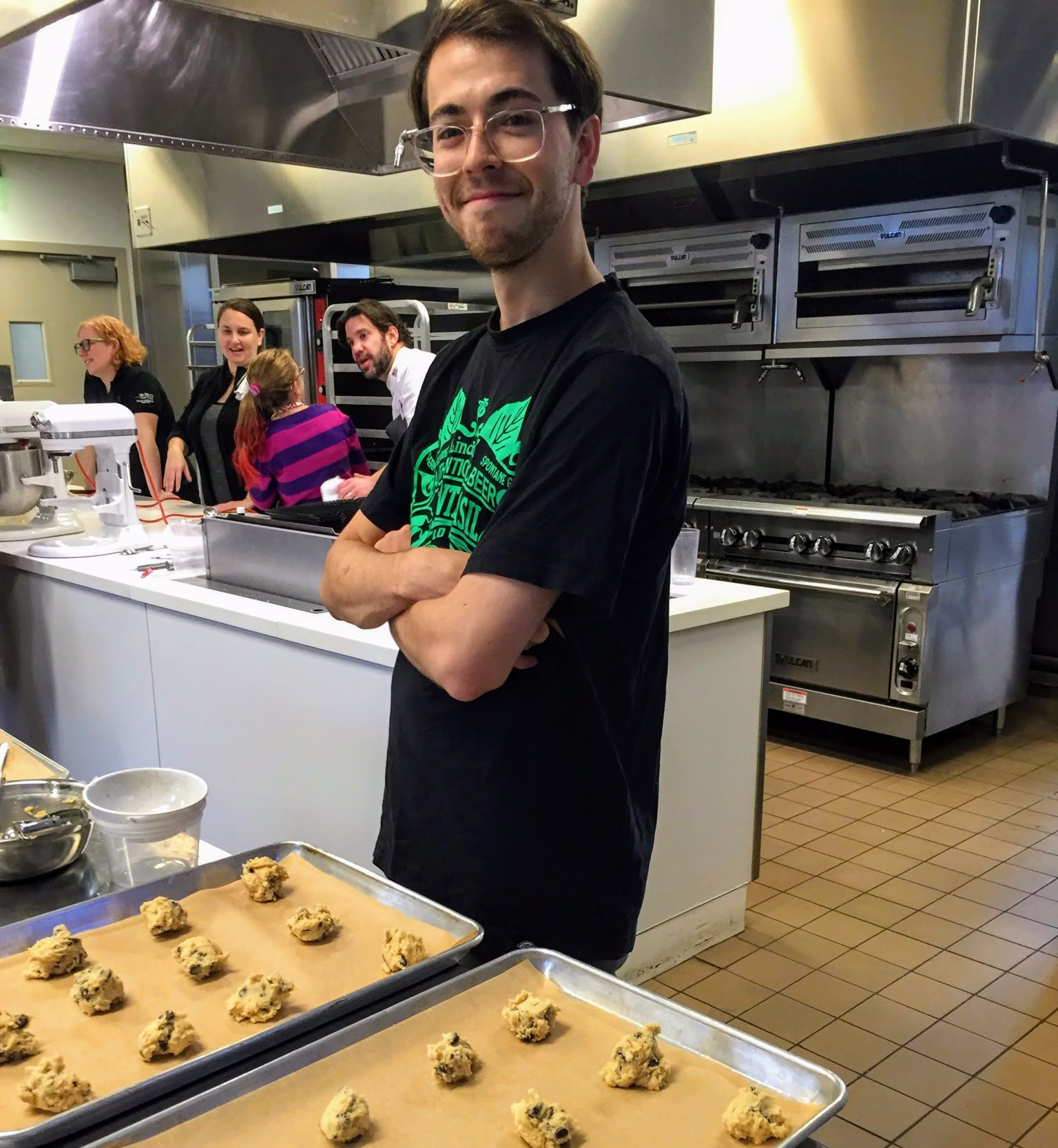 Chris Parsons - Chris joined waffles for Tourette in 2018 as one of our master waffle makers. Chris is also Head Barista at Hobbs Coffee and the owner of Parsons Cookies. When not preparing waffles or coffee, Chris can be found on the campus of Widener University where he is pursuing a degree in culinary arts.