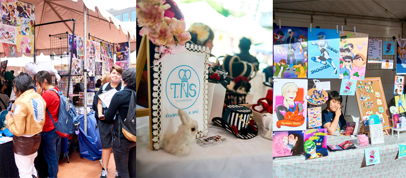 Various vendors & artists selling their craft.