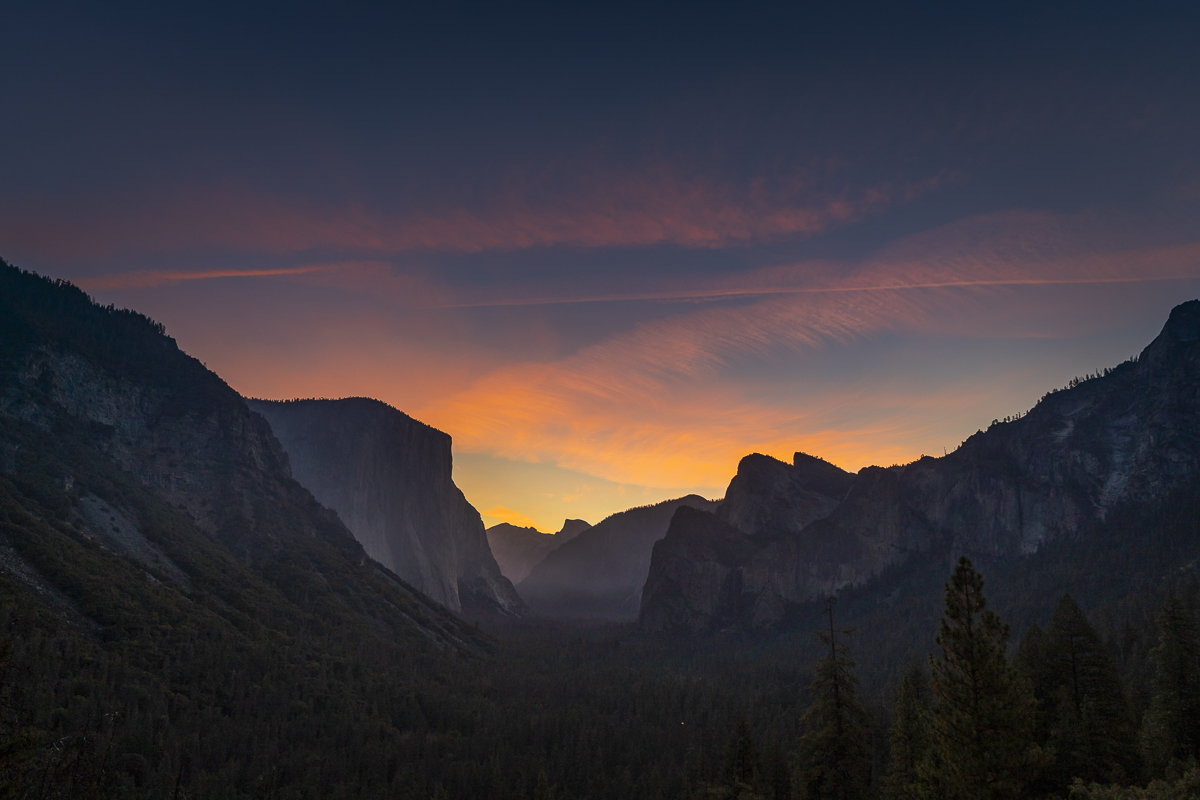 Sunrise at Tunnel View - Shot was exposed for the highlights and I was able to save the shadows in post-processing.