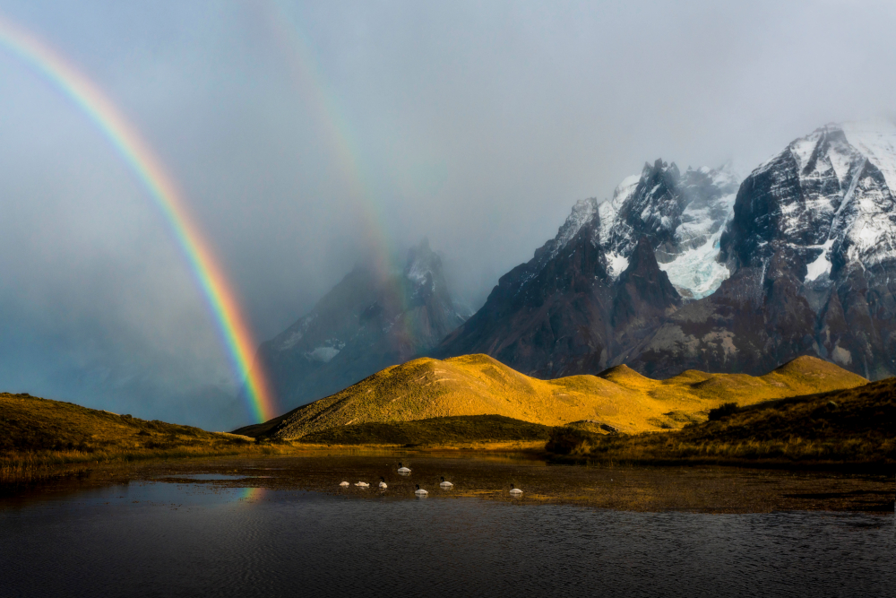 Beautiful Double in Torres Del Paine