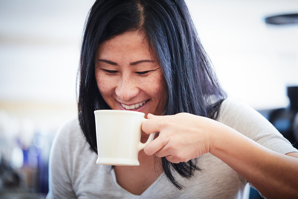 Khanh Trang, licensed Q-grader and Co-Owner of Greater Goods Coffee