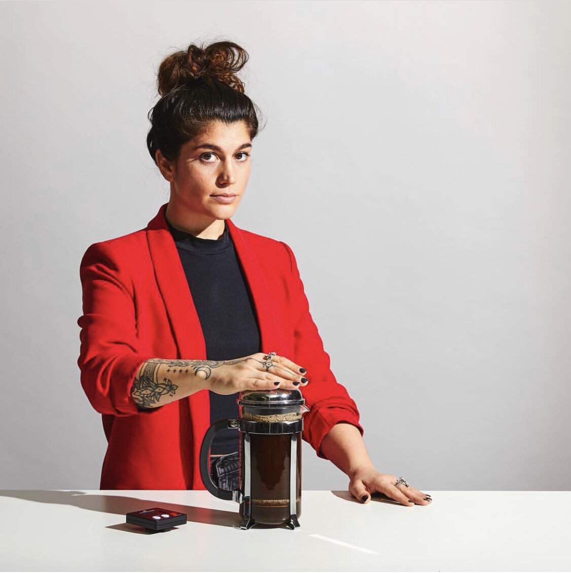 """Erika """"EV"""" Vonie, Licensed Q-Grader, 2017 Coffee Masters Champion, and Director of Coffee at Trade Coffee in New York City, NY."""