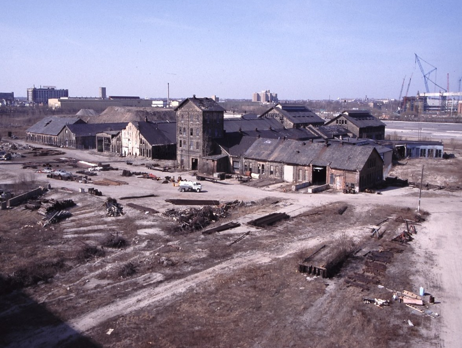 Former Milwaukee Road Shops in 1999