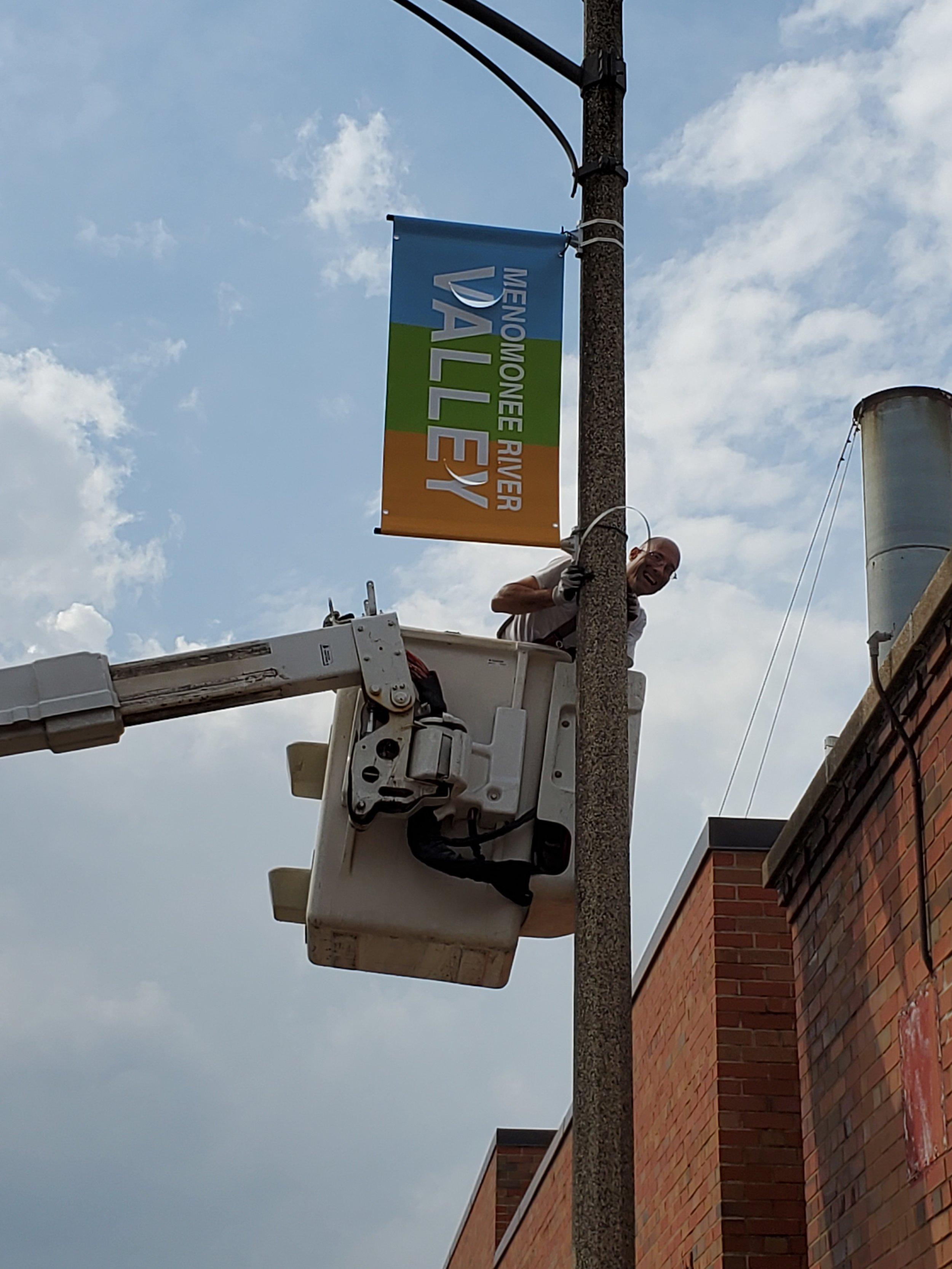 Streetpole Banner outside Materion.jpg