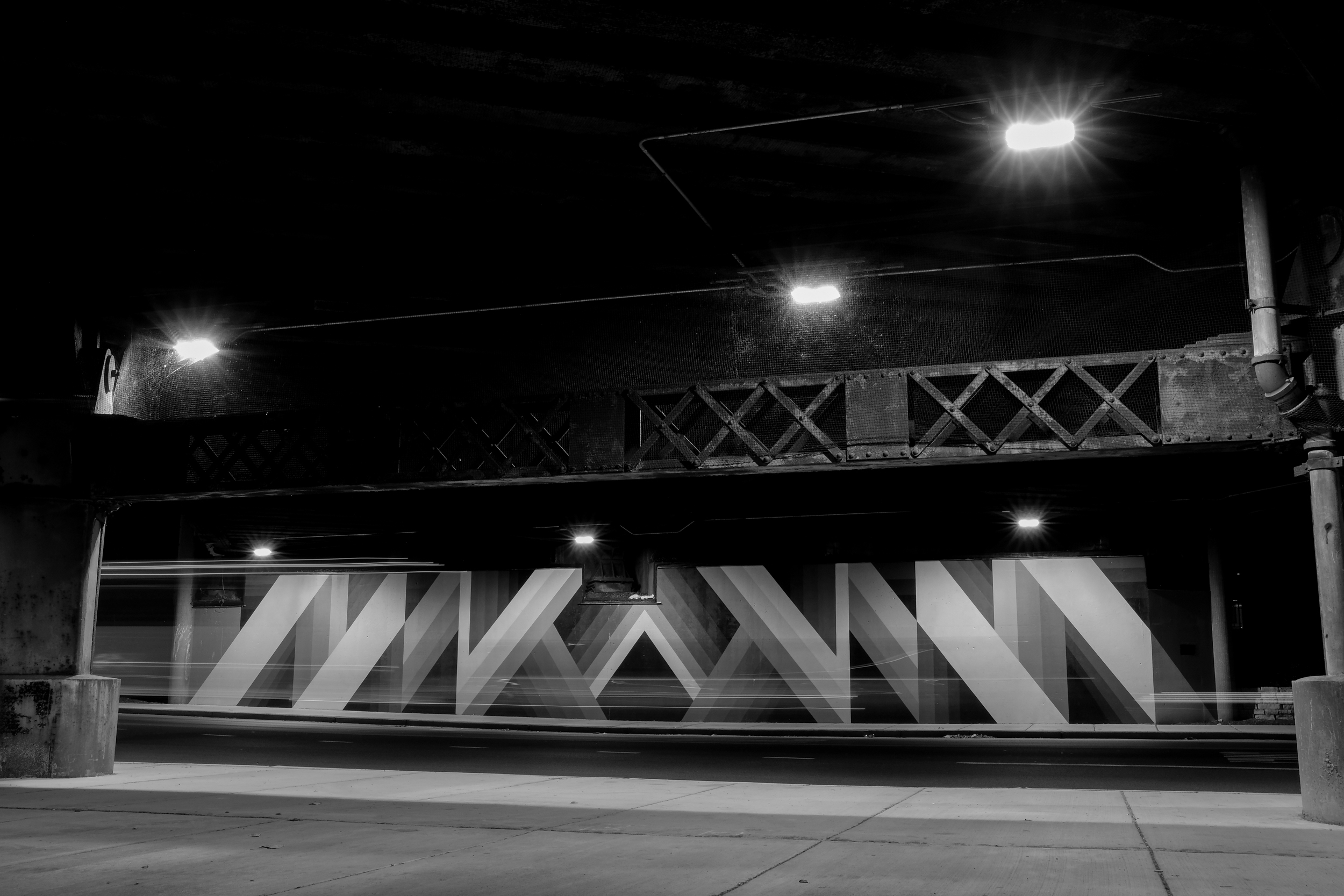 Geometric murals by James Marshall aka Dalek  See the walls transforming →