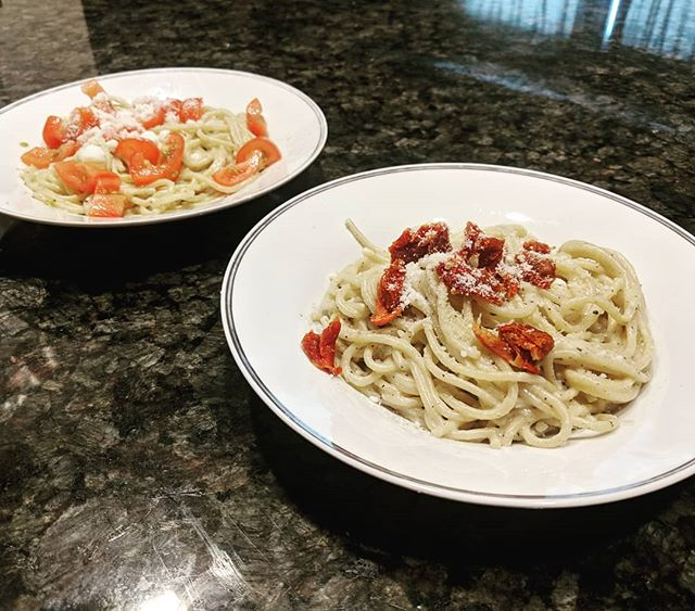 Nicole and I tried Alton Brown's cacio e pepe recipe (plus some cherry/sun dried tomatoes) and I am dead. So good!  Now go watch Good Eats: Reloaded.  #FoodIsSoImportant #foodfoodfood #altonbrown #foodgod #goodeats #goodeatsreloaded #cacioepepe