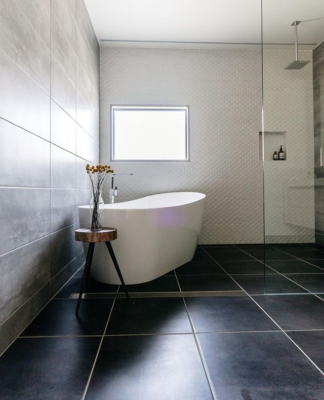 | Bathroom | Moody light in the main bathroom at the Mather Project.⁠ .⁠ .⁠ .⁠ .⁠ 📸 @onetooagency⁠ #bathroom #bathroomsofinsta #⁠ #interiordesign #design #home #homedecor #bathroomdesign #interior #architecture #interiors #homedesign #tiles #luxury #bath #style