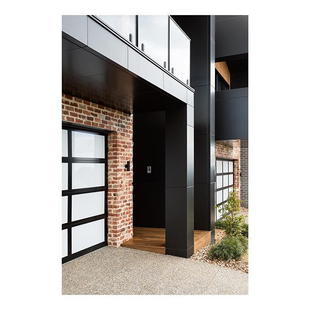 Alucobond | We used matte black Alucobond as an exterior feature on the Mitchell Street Project. The smooth modern finish contrasted perfectly with the recycled brick.