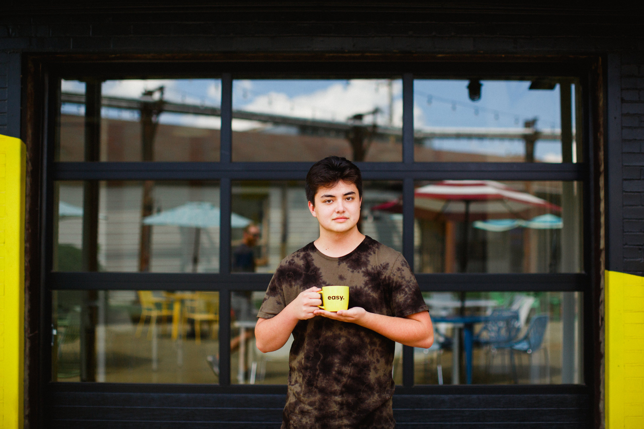 that's me holding a coffee mug.