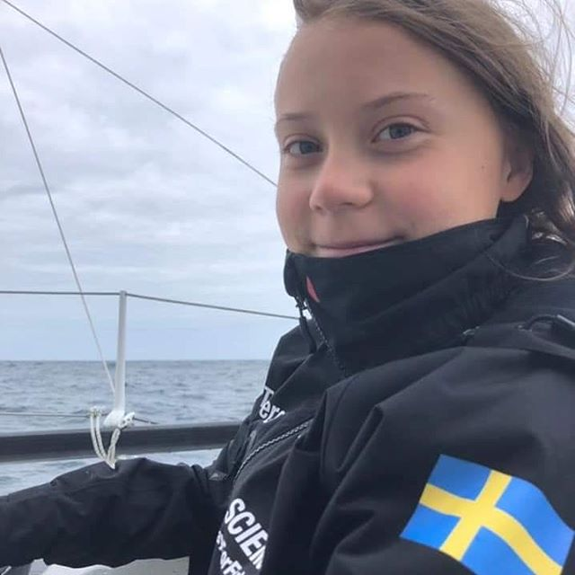 "She has launched and is well on her way! Fair winds and following seas Greta!  Greta reports ""Day 2. 100 nautical miles west of Cape Finisterre. A very bumpy night but I slept surprisingly well. Some dolphins showed up and swam along the boat last night!"" #GretaThunberg #Greta #ClimateStrike #ClimateChange #ClimateChangeIsReal #Leadership #BeTheChange #EcoWarrior #EcoElite #sailing #ocean #environment #BlueCarbon #CO2 #SaveThePlanet  #Activist #MyImpactMatters"