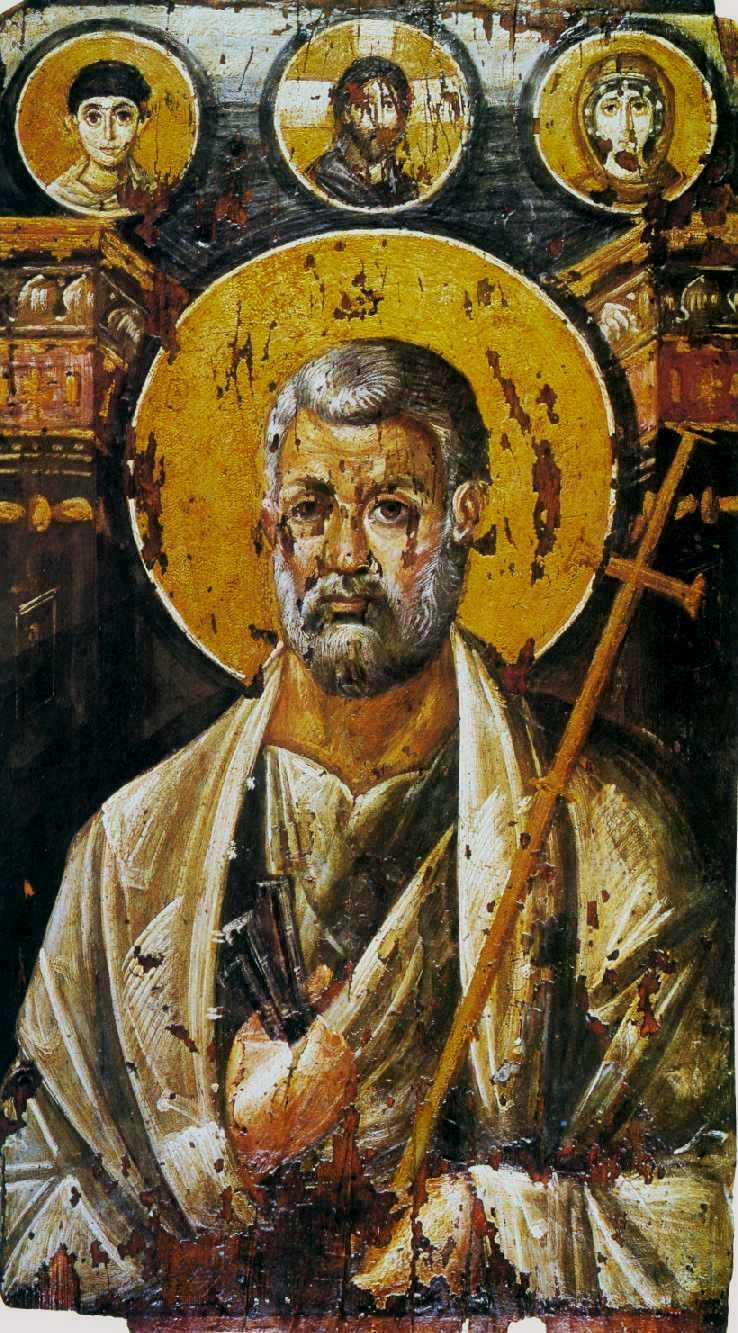 St. Peter in a 6th century portrait. [ SOURCE ]