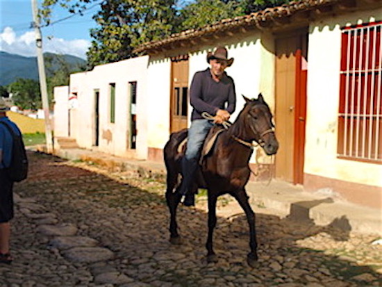 Cobbled streets and locals on horseback.jpeg