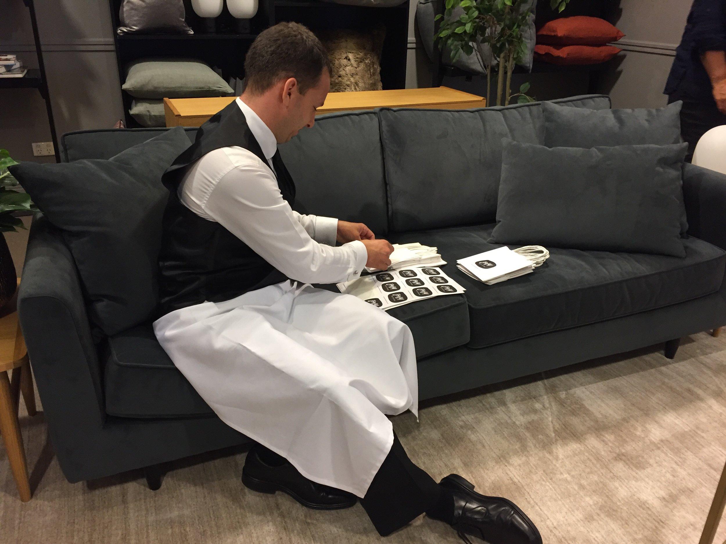DJs Sydney preparing gift bags.jpg