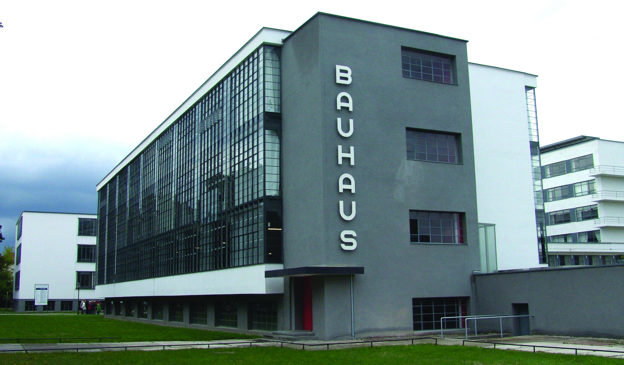 The Bauhaus Building in Dessau, Germany; image taken in 2003.Image courtesy of Mewes.