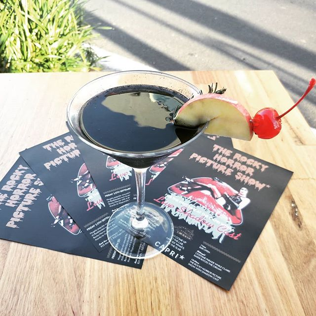 Friday the 13th is looking extra spooky 😱 Rare 'harvest moon' will shine bright on us while we sip on our new black cocktail. Capri is screening cult classic, The Rocky Horror Picture Show, our resident DJ is here to warm you up. Unleash your inner freak! #rockyhorrorpictureshow #getyourfreakon #adelaidebars