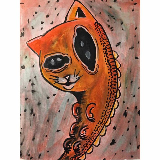 Cat-A-Pillar (2019)  #art #artist #artistofinstagram #learn  #artsy #collab #mixedmedia #gallery #magazine  #picture #sketch  #masterpiece  #streetart #draw #cat #caterpillar #sketchbook #instaart #creative