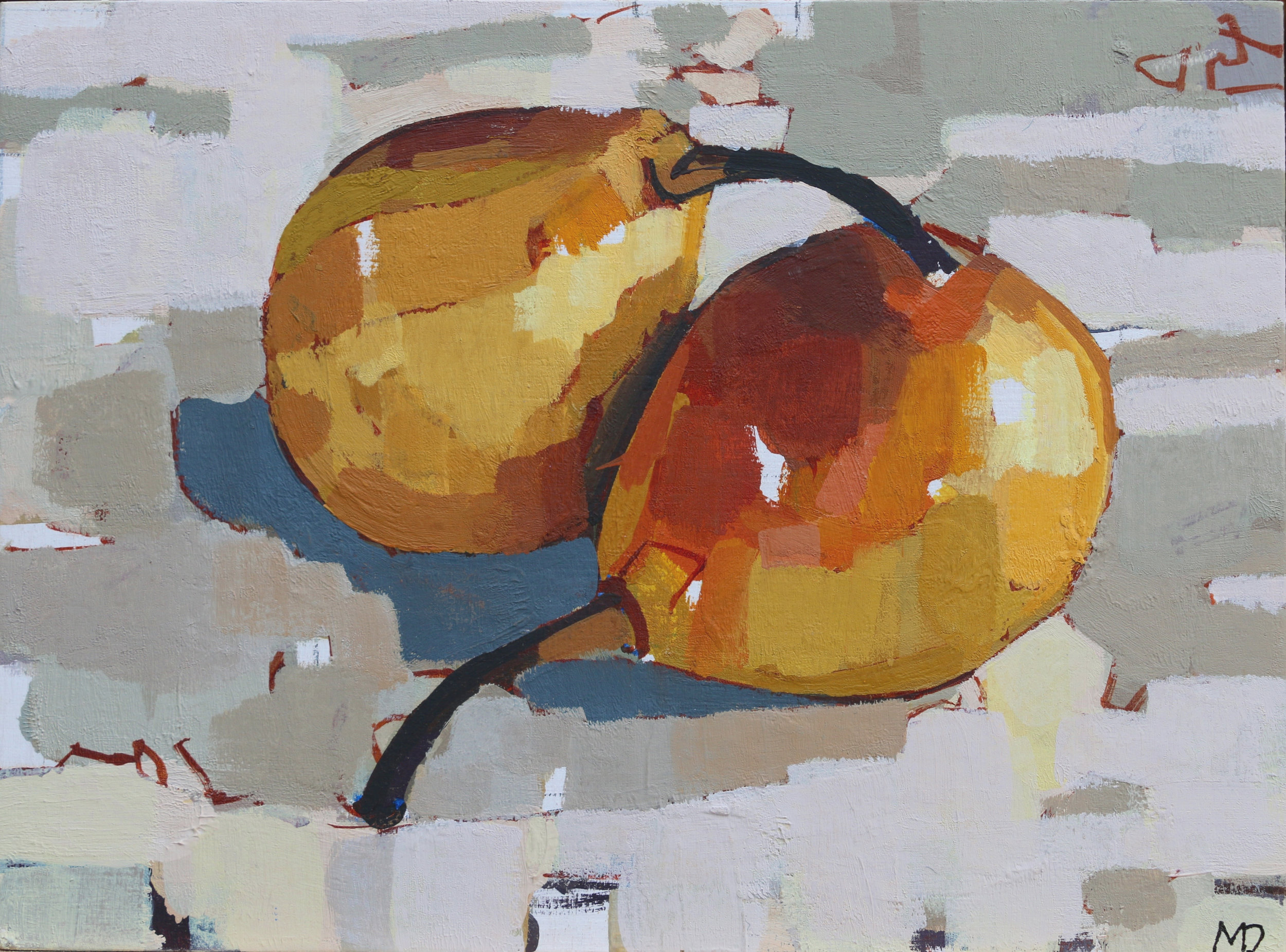 Pears  Oil on board  8 x 6inches