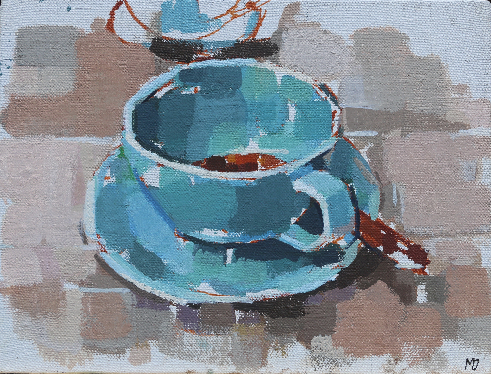 Empty Coffee Cup  Oil on Canvas  8 x 6 inches