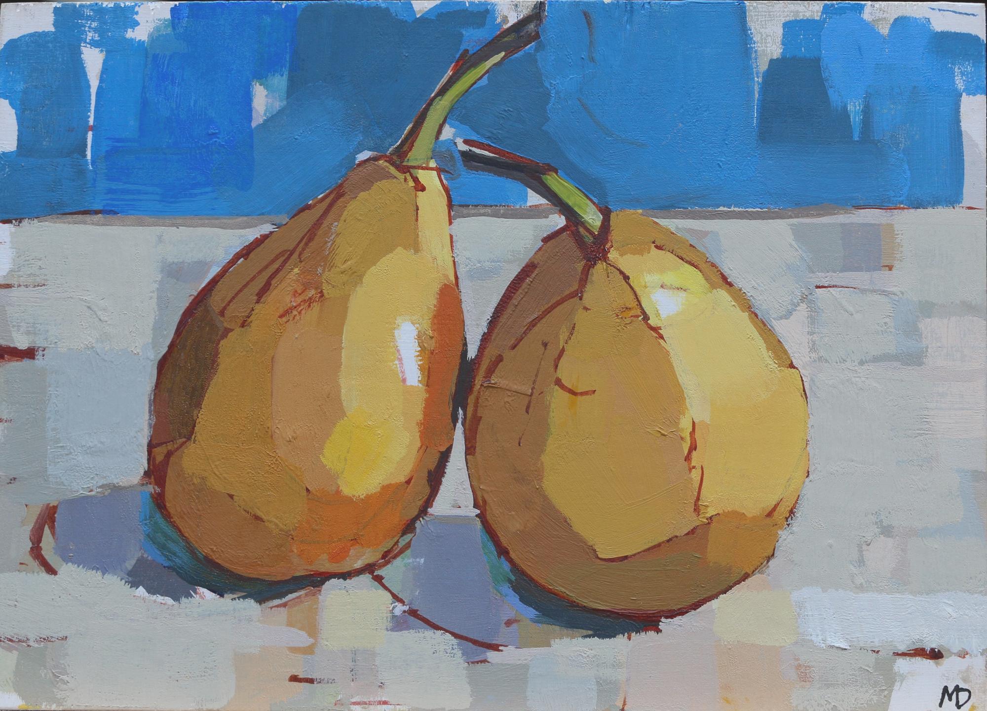 Pears II  Oil on Board  8 x 6 inches