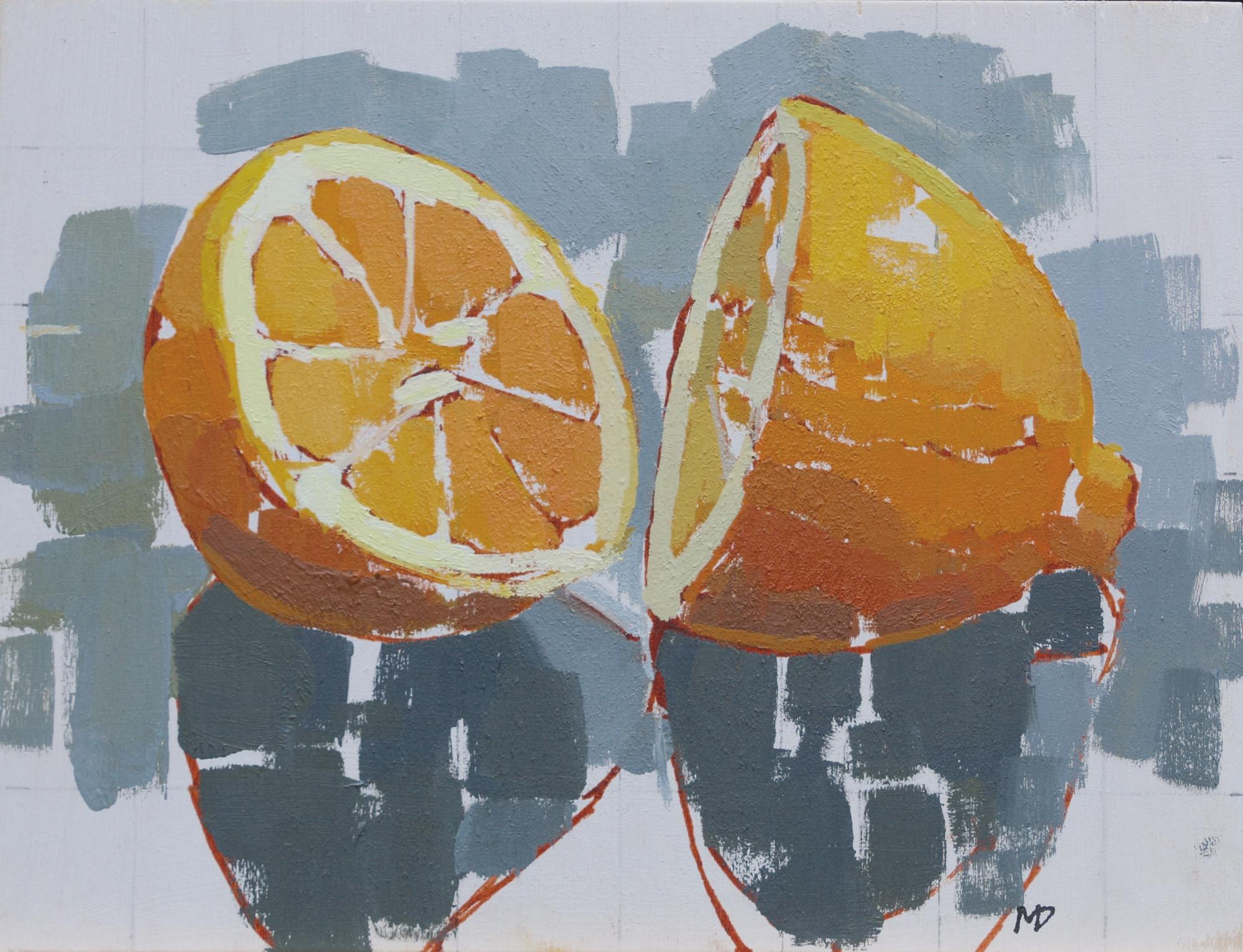lemon Halves  Oil on Board  8 x 6 inches