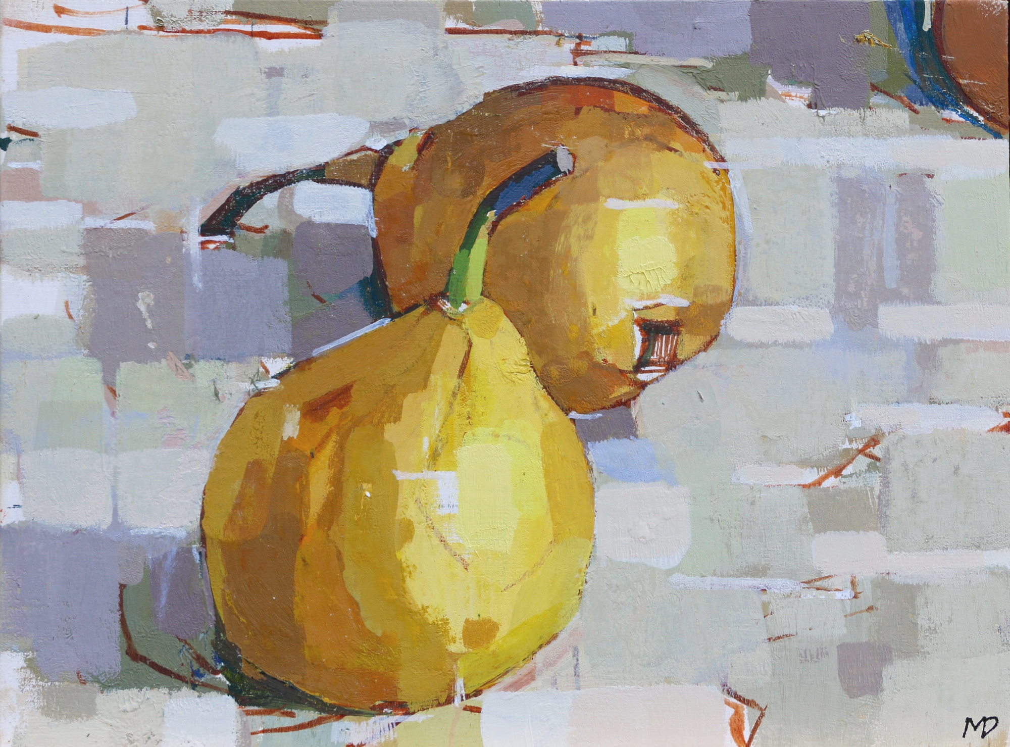 Pears III  Oil on Board  8 x 6 inches