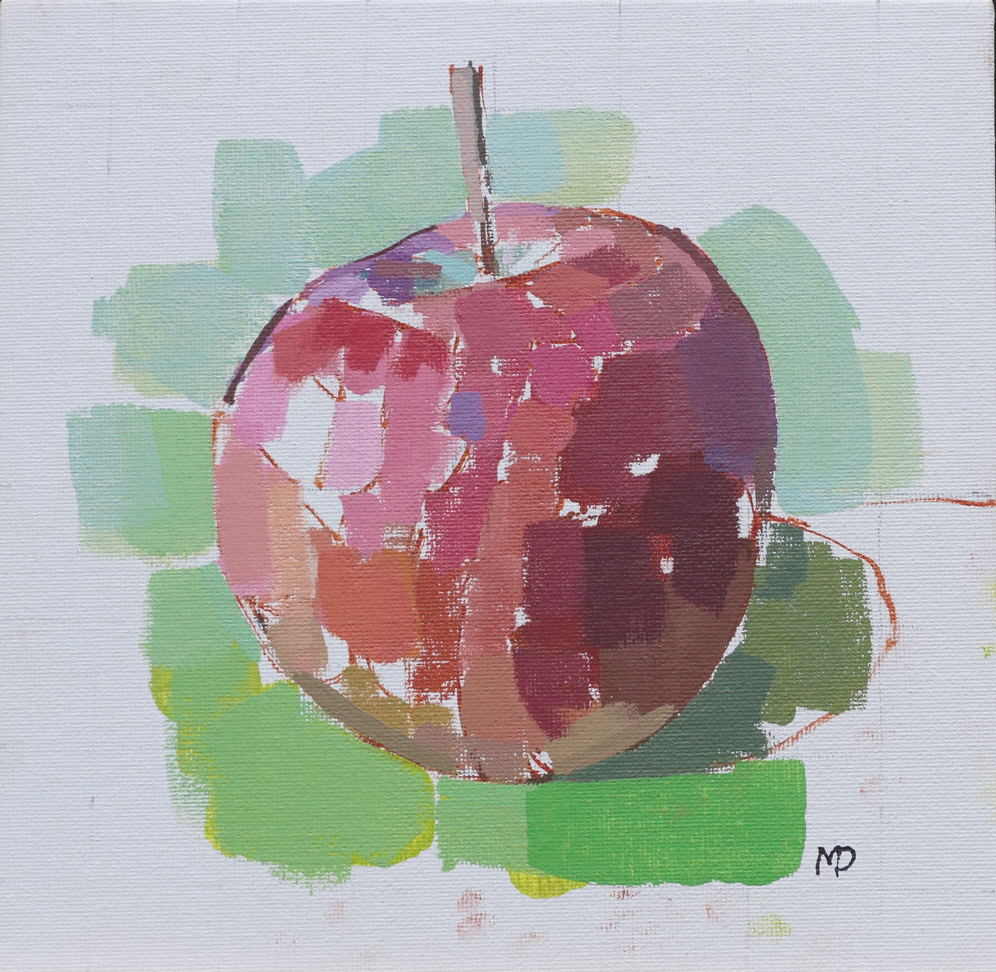 Apple  Oil on Canvas 8 x 8 inches