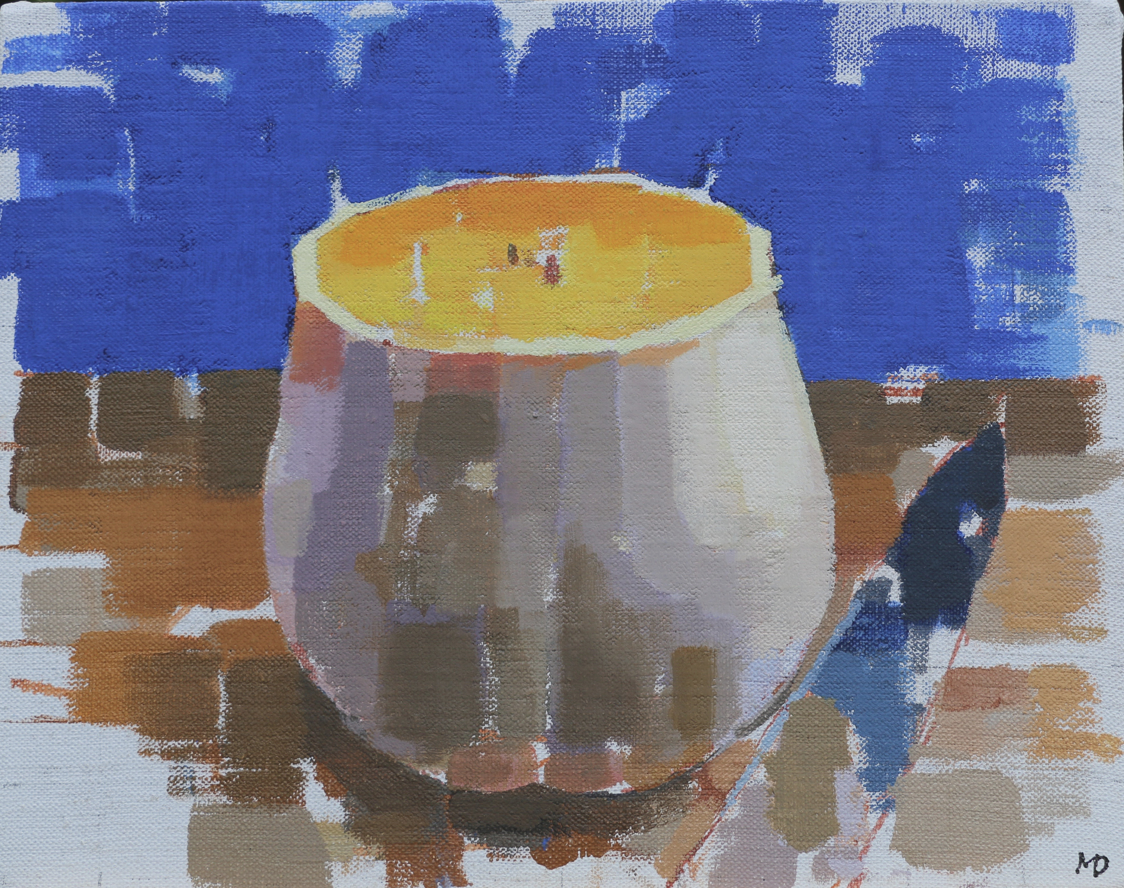 Squash and knife  Oil on Canvas  10 x 8 inches