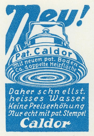 Caldor-Werbung, 1930